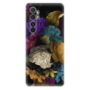 Odolné silikonové pouzdro iSaprio - Dark Flowers na mobil Xiaomi Mi Note 10 Lite