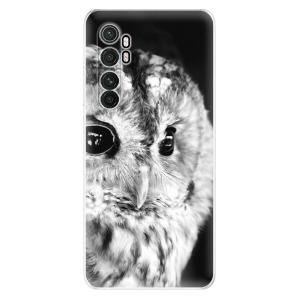 Odolné silikonové pouzdro iSaprio - BW Owl na mobil Xiaomi Mi Note 10 Lite