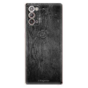 Odolné silikonové pouzdro iSaprio - Black Wood 13 na mobil Samsung Galaxy Note 20