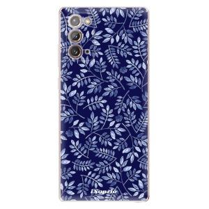 Odolné silikonové pouzdro iSaprio - Blue Leaves 05 na mobil Samsung Galaxy Note 20