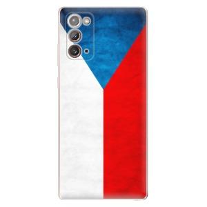 Odolné silikonové pouzdro iSaprio - Czech Flag na mobil Samsung Galaxy Note 20