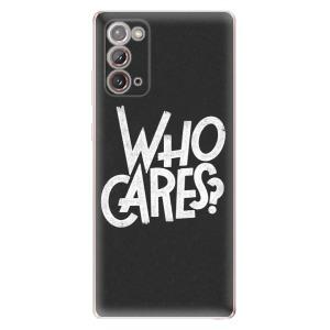 Odolné silikonové pouzdro iSaprio - Who Cares na mobil Samsung Galaxy Note 20