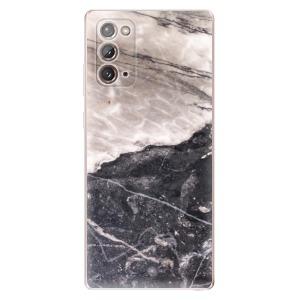 Odolné silikonové pouzdro iSaprio - BW Marble na mobil Samsung Galaxy Note 20