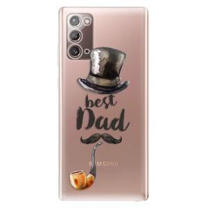Odolné silikonové pouzdro iSaprio - Best Dad na mobil Samsung Galaxy Note 20