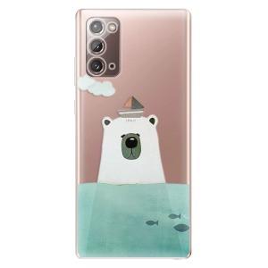 Odolné silikonové pouzdro iSaprio - Bear With Boat na mobil Samsung Galaxy Note 20