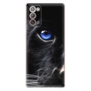 Odolné silikonové pouzdro iSaprio - Black Puma na mobil Samsung Galaxy Note 20