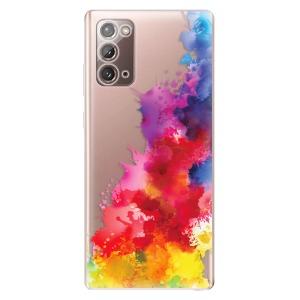 Odolné silikonové pouzdro iSaprio - Color Splash 01 na mobil Samsung Galaxy Note 20