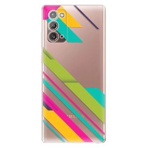 Odolné silikonové pouzdro iSaprio - Color Stripes 03 na mobil Samsung Galaxy Note 20