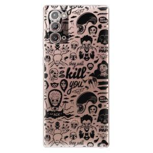 Odolné silikonové pouzdro iSaprio - Comics 01 - black na mobil Samsung Galaxy Note 20