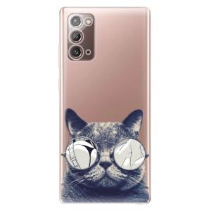 Odolné silikonové pouzdro iSaprio - Crazy Cat 01 na mobil Samsung Galaxy Note 20