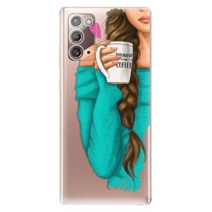 Odolné silikonové pouzdro iSaprio - My Coffe and Brunette Girl na mobil Samsung Galaxy Note 20