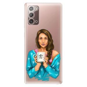 Odolné silikonové pouzdro iSaprio - Coffe Now - Brunette na mobil Samsung Galaxy Note 20