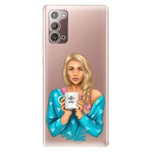 Odolné silikonové pouzdro iSaprio - Coffe Now - Blond na mobil Samsung Galaxy Note 20