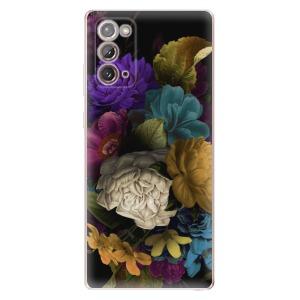 Odolné silikonové pouzdro iSaprio - Dark Flowers na mobil Samsung Galaxy Note 20
