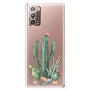 Odolné silikonové pouzdro iSaprio - Cacti 02 na mobil Samsung Galaxy Note 20