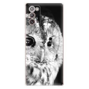 Odolné silikonové pouzdro iSaprio - BW Owl na mobil Samsung Galaxy Note 20