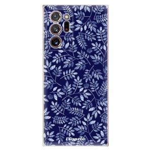 Odolné silikonové pouzdro iSaprio - Blue Leaves 05 na mobil Samsung Galaxy Note 20 Ultra