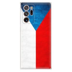 Odolné silikonové pouzdro iSaprio - Czech Flag na mobil Samsung Galaxy Note 20 Ultra