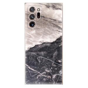 Odolné silikonové pouzdro iSaprio - BW Marble na mobil Samsung Galaxy Note 20 Ultra