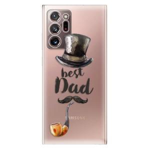 Odolné silikonové pouzdro iSaprio - Best Dad na mobil Samsung Galaxy Note 20 Ultra