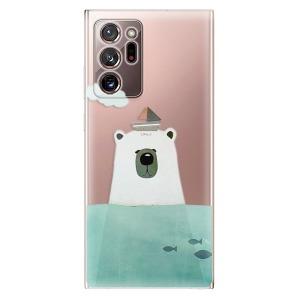 Odolné silikonové pouzdro iSaprio - Bear With Boat na mobil Samsung Galaxy Note 20 Ultra
