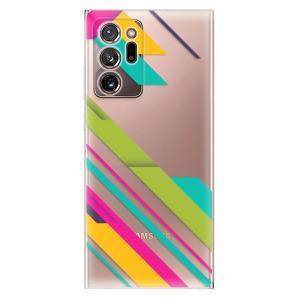 Odolné silikonové pouzdro iSaprio - Color Stripes 03 na mobil Samsung Galaxy Note 20 Ultra