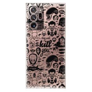 Odolné silikonové pouzdro iSaprio - Comics 01 - black na mobil Samsung Galaxy Note 20 Ultra