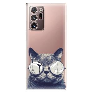 Odolné silikonové pouzdro iSaprio - Crazy Cat 01 na mobil Samsung Galaxy Note 20 Ultra
