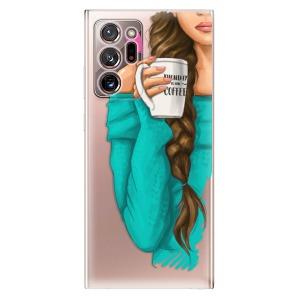 Odolné silikonové pouzdro iSaprio - My Coffe and Brunette Girl na mobil Samsung Galaxy Note 20 Ultra