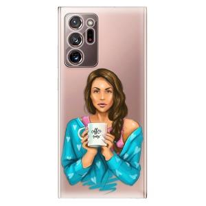 Odolné silikonové pouzdro iSaprio - Coffe Now - Brunette na mobil Samsung Galaxy Note 20 Ultra
