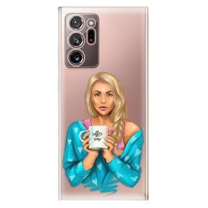 Odolné silikonové pouzdro iSaprio - Coffe Now - Blond na mobil Samsung Galaxy Note 20 Ultra