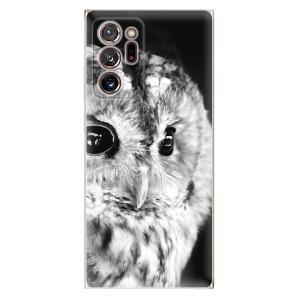Odolné silikonové pouzdro iSaprio - BW Owl na mobil Samsung Galaxy Note 20 Ultra