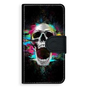 Univerzální knížkové flip pouzdro iSaprio - Skull in Colors - velikost Flip M (pro telefony s výškou 142 až 153 mm)