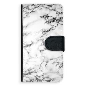 Univerzální knížkové flip pouzdro iSaprio - White Marble 01 - velikost Flip XL (pro telefony s výškou 157 až 167 mm) - rozbaleno
