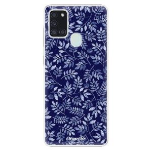 Plastové pouzdro iSaprio - Blue Leaves 05 na mobil Samsung Galaxy A21s