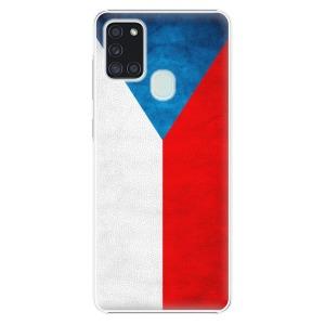 Plastové pouzdro iSaprio - Czech Flag na mobil Samsung Galaxy A21s