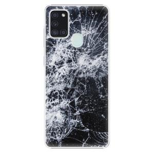 Plastové pouzdro iSaprio - Cracked na mobil Samsung Galaxy A21s