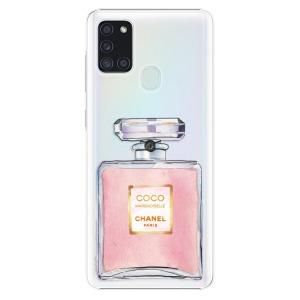 Plastové pouzdro iSaprio - Chanel Rose na mobil Samsung Galaxy A21s