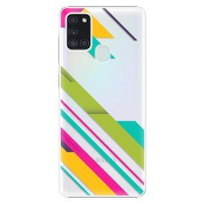 Plastové pouzdro iSaprio - Color Stripes 03 na mobil Samsung Galaxy A21s