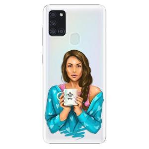 Plastové pouzdro iSaprio - Coffe Now - Brunette na mobil Samsung Galaxy A21s