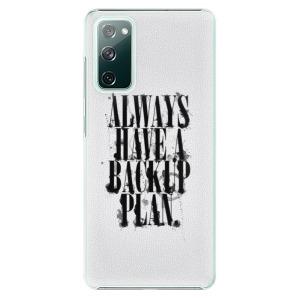 Plastové pouzdro iSaprio - Backup Plan na mobil Samsung Galaxy S20 FE / Samsung Galaxy S20 FE 5G