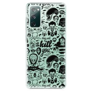 Plastové pouzdro iSaprio - Comics 01 - black na mobil Samsung Galaxy S20 FE / Samsung Galaxy S20 FE 5G