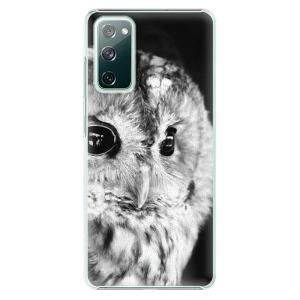 Plastové pouzdro iSaprio - BW Owl na mobil Samsung Galaxy S20 FE / Samsung Galaxy S20 FE 5G