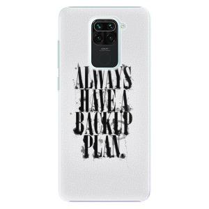 Plastové pouzdro iSaprio - Backup Plan na mobil Xiaomi Redmi Note 9