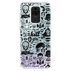 Plastové pouzdro iSaprio - Comics 01 - black na mobil Xiaomi Redmi Note 9