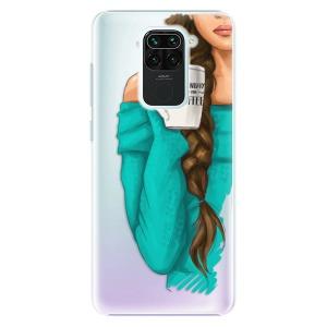 Plastové pouzdro iSaprio - My Coffe and Brunette Girl na mobil Xiaomi Redmi Note 9