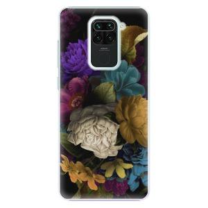 Plastové pouzdro iSaprio - Dark Flowers na mobil Xiaomi Redmi Note 9