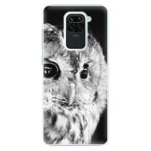 Plastové pouzdro iSaprio - BW Owl na mobil Xiaomi Redmi Note 9