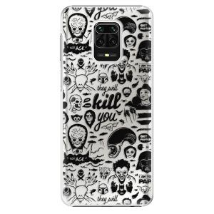Plastové pouzdro iSaprio - Comics 01 - black na mobil Xiaomi Redmi Note 9S / Xiaomi Redmi Note 9 Pro
