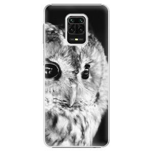 Plastové pouzdro iSaprio - BW Owl na mobil Xiaomi Redmi Note 9S / Xiaomi Redmi Note 9 Pro